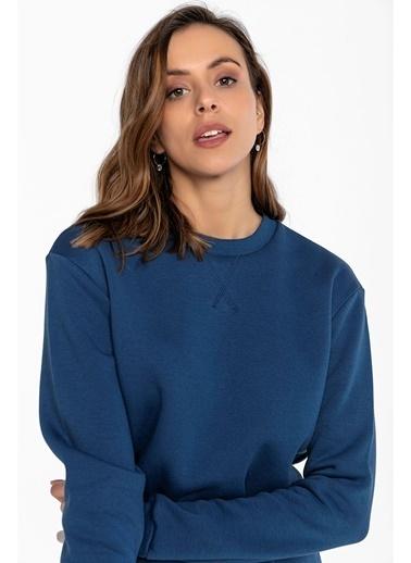 Tiffany&Tomato Ribanalı Sweatshırt Mavi